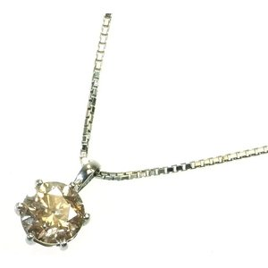 Pt900(プラチナ) ダイヤモンド ネックレス ペンダント レディース 1石 1.0ct 6本爪|suemune