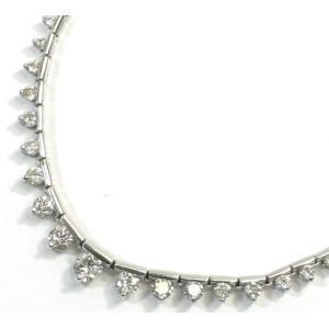 K18WG(ホワイトゴールド) ダイヤモンド ネックレス ペンダント レディース|suemune
