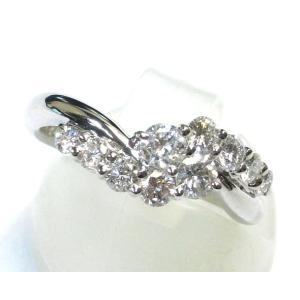 Pt900(プラチナ) ダイヤモンド 指輪 リング 10号 レディース 鑑別書付き|suemune
