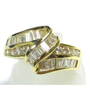 K18(ゴールド) ダイヤモンド 指輪 リング 12号 レディース|suemune