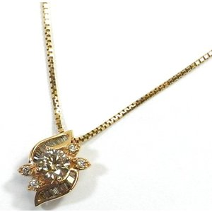 K18PG(ピンクゴールド) ダイヤモンド ネックレス ペンダント レディース|suemune
