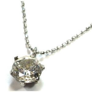 Pt900(プラチナ) ダイヤモンド ネックレス ペンダント レディース 1粒  6本爪|suemune