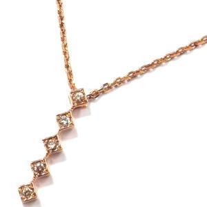K10(ゴールド) ダイヤモンド ネックレス ペンダント レディース  4月誕生石 I字|suemune