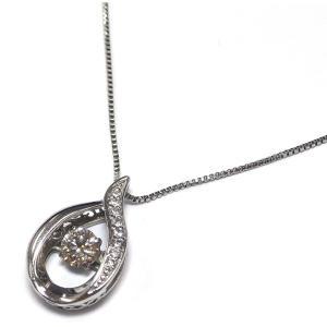 Pt900(プラチナ) ダイヤモンド ネックレス ペンダント レディース 雫 4月誕生石|suemune