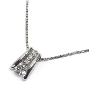 Pt900(プラチナ) ダイヤモンド ネックレス ペンダント レディース  4月誕生石|suemune