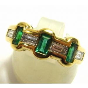 K18(ゴールド) エメラルド 指輪 リング レディース|suemune