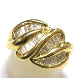 K18(ゴールド) ダイヤモンド 指輪 リング レディース|suemune