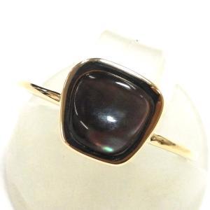 K10YG(イエローゴールド) ブラックシェル 指輪 リング レディース 755549011|suemune