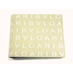 ブルガリ BVLGAR 二つ折り財布 メンズ レッタレ キャンバス ベージュ 22634 suemune