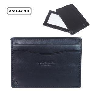 COACH コーチ IDケース PVC×レザー ミニIDスキニー シグネチャー ブラック×カーキ 66851-khaメンズ ブティック品|suemune