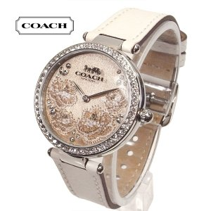 COACH コーチ 腕時計 パーク アナログ SS×レザー アイボリー 14503284 レディース ブティック品 suemune