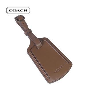 COACH コーチ ラゲッジタグ スムースレザー ラゲッジタグ ブラウン 79809-sad レディース ブティック品|suemune