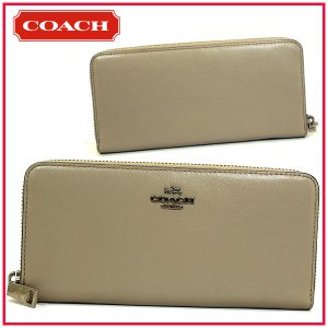 COACH コーチ 長財布 スムースレザー スリム アコーディオン ジップ フォグ 53707 ブティック品|suemune