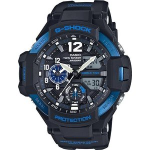 G-SHOCK 腕時計 ジーショック ブラック×ブルー  ga1100-2b  海外モデル アナログ×デジタル  カシオ メンズ マスターオブG suemune