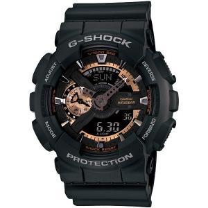 G-SHOCK 腕時計 ジーショック ブラック×ローズゴールド  ga110rg-1a  海外モデル アナログ×デジタル  カシオ メンズ suemune