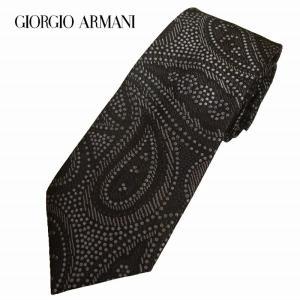 GIORGIO ARMANI アルマーニ ネクタイ ペイズリー ブラック 360054 8a851 メンズ|suemune