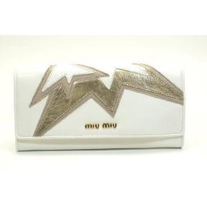 miumiu ミュウミュウ レザー 長財布 NAPPA DECORO ST BIANCO ホワイト|suemune
