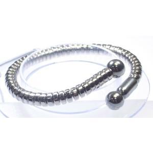 SPALDING スポルディング N.S パワーバングル 磁気ブレスレット プラチナ Lサイズ|suemune