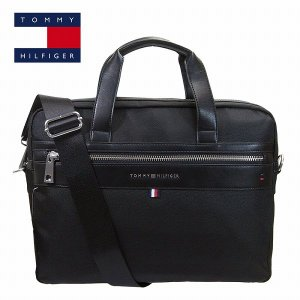 トミーヒルフィガー ブリーフケース ビジネスバッグ ブラック TOMMY HILFIGER 6942166-990 メンズ|suemune