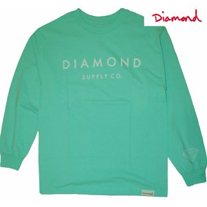 DIAMOND SUPPLY CO. | STONE CUT LONG-TEE (ダイアモンド ストーンカットロンT) | DIAMOND BLUE UNISEX(男女共通) |suffice