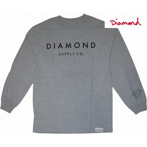 DIAMOND SUPPLY CO. | STONE CUT LONG-TEE (ダイアモンド ストーンカットロンT) | HEATHER GRAY UNISEX(男女共通) |suffice