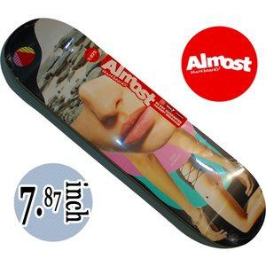 デッキテープ無料 ALMOST SKATEDECK / TEAMシリーズ SIDE PIPE BLUERRY BLUE|suffice
