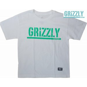 GRIZZLY KID'S / ROUGH STAMP CUBS BEAR TEE (グリズリー ) WHITE キッズ 子供用|suffice