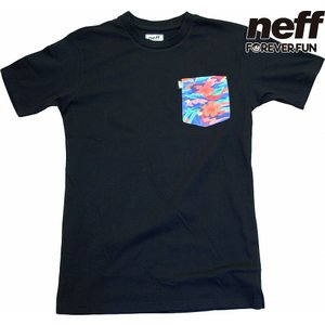 NEFF | CASTRO POCKET TEE (ネフ | パラダイスボックスTEE) #16P29009 BLACK UNISEX|suffice