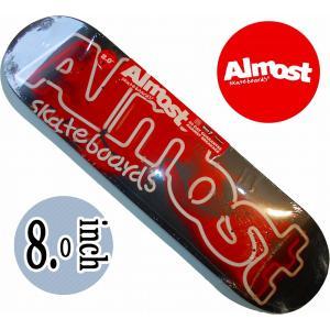 デッキテープ無料 ALMOST SKATEDECK / TEAMシリーズ NEON SIGN RED|suffice