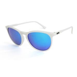DANG SHADES | FENTON  //White Matte x Blue Mirror Polarized 偏光レンズ (ダンシェーディーズ)  ユニセックス(男女共用)ミラーレンズ|suffice