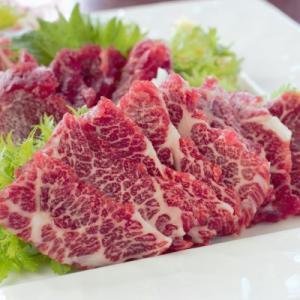馬刺しの定番!スライス3種食べ比べセット(霜降り50g、赤身40g、フタエゴ40g、たれ付き)|suganoya834|02