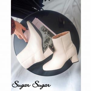 ≪予約商品 T-POINT5倍≫【SUGARSUGAR★シュガーシュガー】スクエアトゥブーツ(11月下旬お届け予定)|sugar-sugar