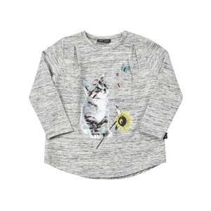 ME TOO【ミートゥー】キャット プリント L/Sチュニック(SIZE80〜110)20%off|sugardays