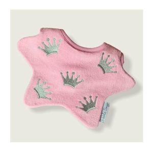 Dribble Days(ドリブルデイズ)Silver crown pink bib|sugardays