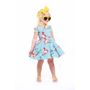 Rock Your Baby【ロックユアベビー】Striped Kitten Waisted Dress(size2〜)30%Off|sugardays