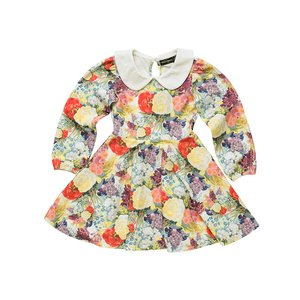Rock Your Kid(ロックユアキッズ)Blooming love Ls peter pan collar Waisted Dress(Kids Size2〜8)|sugardays