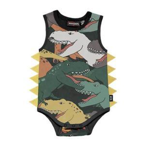 Rock Your Baby(ロックユアベビー)Dino Stampede  S/SBodysuit(Baby size〜24m)|sugardays