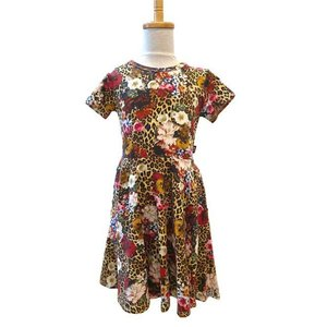 Rock Your Kid(ロックユアキッズ) Leopard Floral Waisted Dress(Kids Size2〜8)|sugardays
