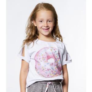 Deux par Deux (デューパーデュー)Printed Donut Grey T-Shirt 20%Off|sugardays