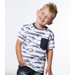 Deux par Deux (デューパーデュー)Fish Print T-Shirt With Pocket (Kids size)20%Off|sugardays