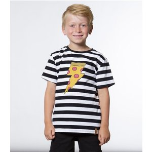 Deux par Deux (デューパーデュー)Striped Lightning Pizza Print T-Shirt (Kids size)20%Off|sugardays