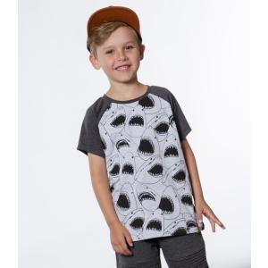Deux par Deux (デューパーデュー)Shark Attack Print Raglan T-shirt (Kids size)20%Off|sugardays