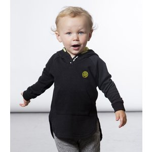 Deux par Deux (デューパーデュー)Black Hoody With Smiley Patch (Baby size)|sugardays