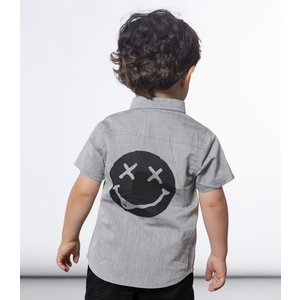Deux par Deux (デューパーデュー)Grunge Style Short Sleeve Shirt With Patches (Kids size)20%Off|sugardays