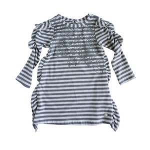 Deux par Deux (デューパーデュー)Gray Stripes Jersey Dress 30%off|sugardays