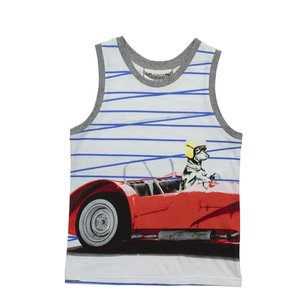 Paper Wings(ペーパーウィングス)Singlet with Brands-DogRacer sugardays