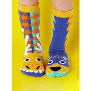 Pals(パルス)Moose&Bear mismatch socks|sugardays
