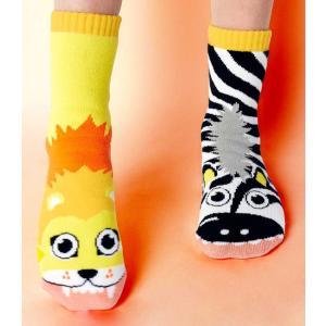 Pals(パルス)Lion&Zebra mismatch socks|sugardays