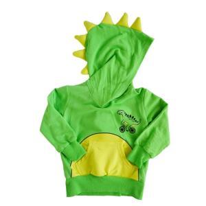 doodle pants【ドゥードゥルパンツ】DinoGreen with YellowSpikes3DHoodie 10%Off|sugardays