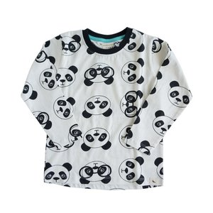 Turtledove London【タートルダヴロンドン】panda ptint drop hem top(mono) 20%Off|sugardays
